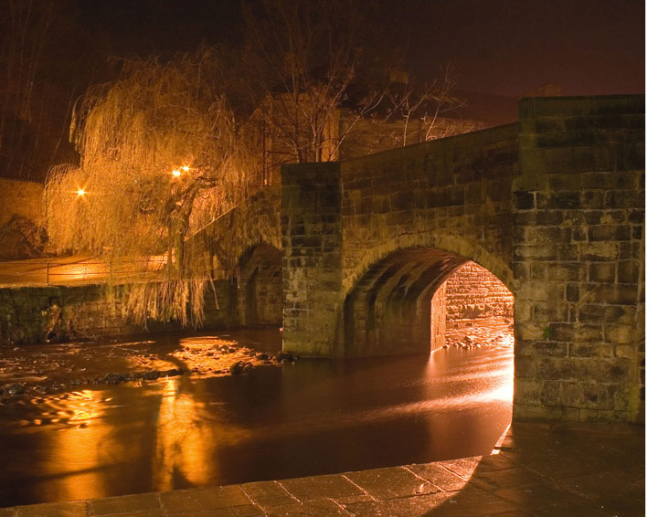 The bridge at night taken by Annette Miller